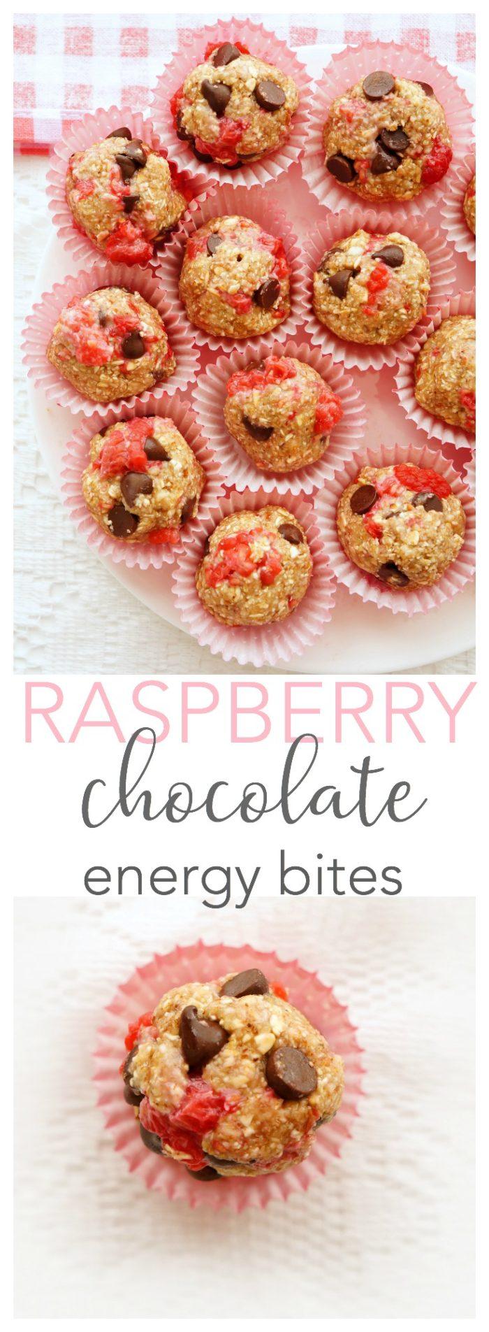 Raspberry Chocolate Oatmeal Bites