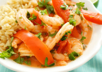Shrimp in Creamy Coconut Tomato Sauce