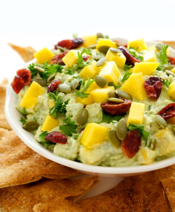 Mango Cranberry Guacamole | Haute & Healthy Living