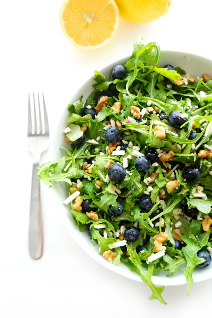 Blueberry Walnut Salad with Lemon Dressing | Haute & Healthy Living