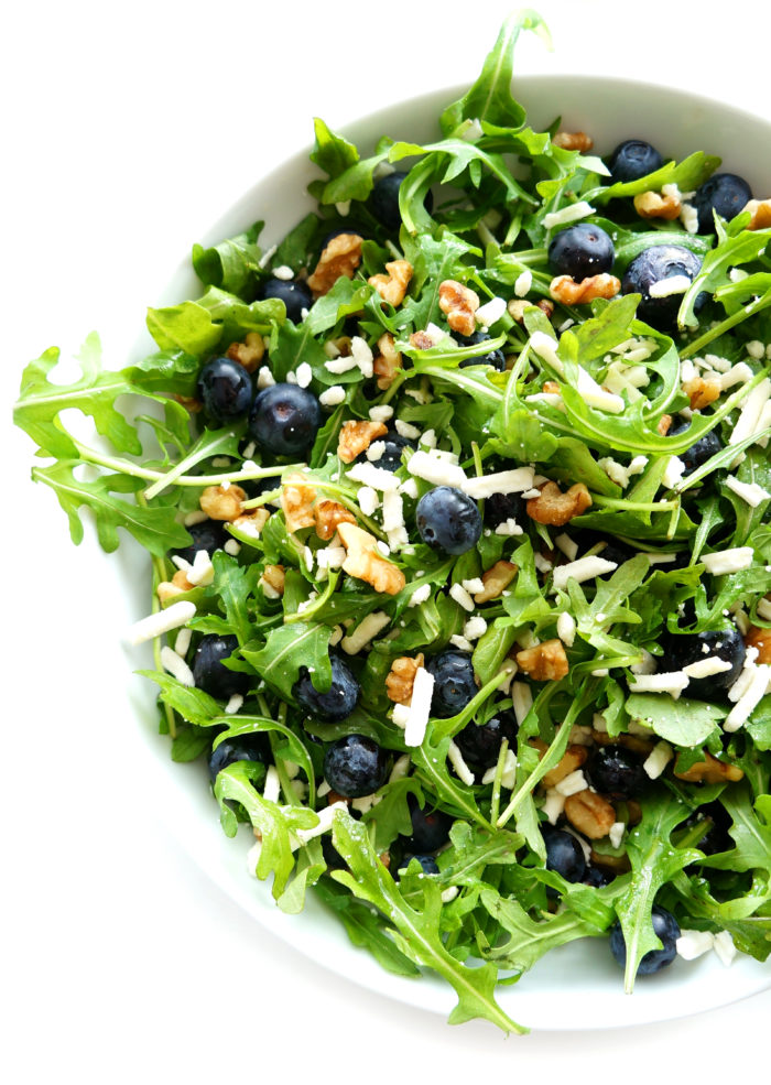 Blueberry Walnut Salad with Lemon Dressing