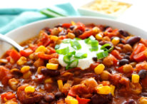 Vegetarian 3-Bean Chili