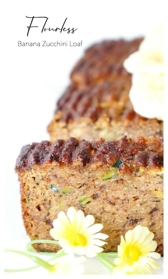 Flourless Banana Zucchini Loaf