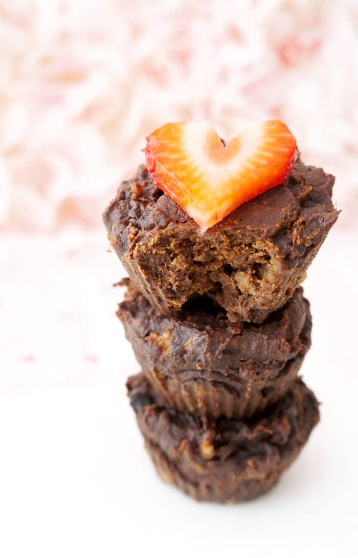 4-Ingredient Flourless Chocolate Brownie Cups