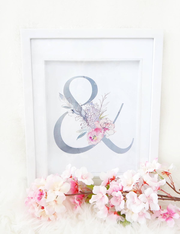 Free Spring Ampersand Floral Printable