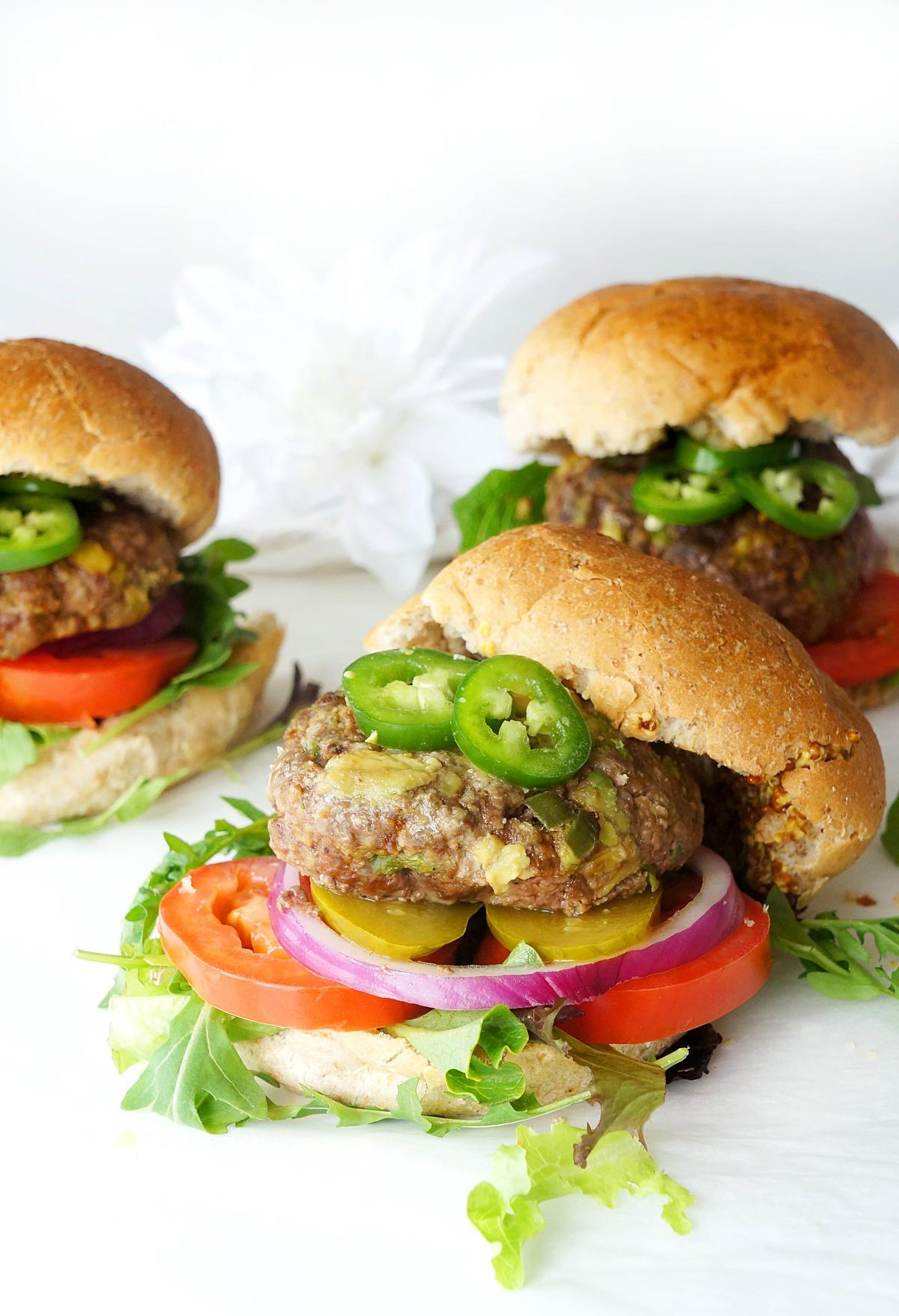 Avocado Jalapeno Burgers Haute Healthy Living