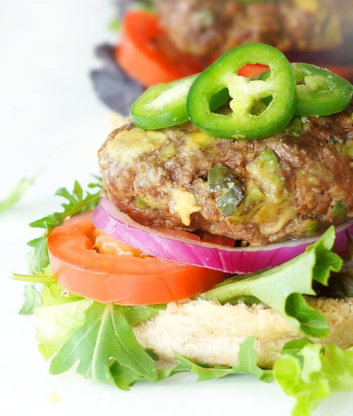 Avocado Jalapeno Burger