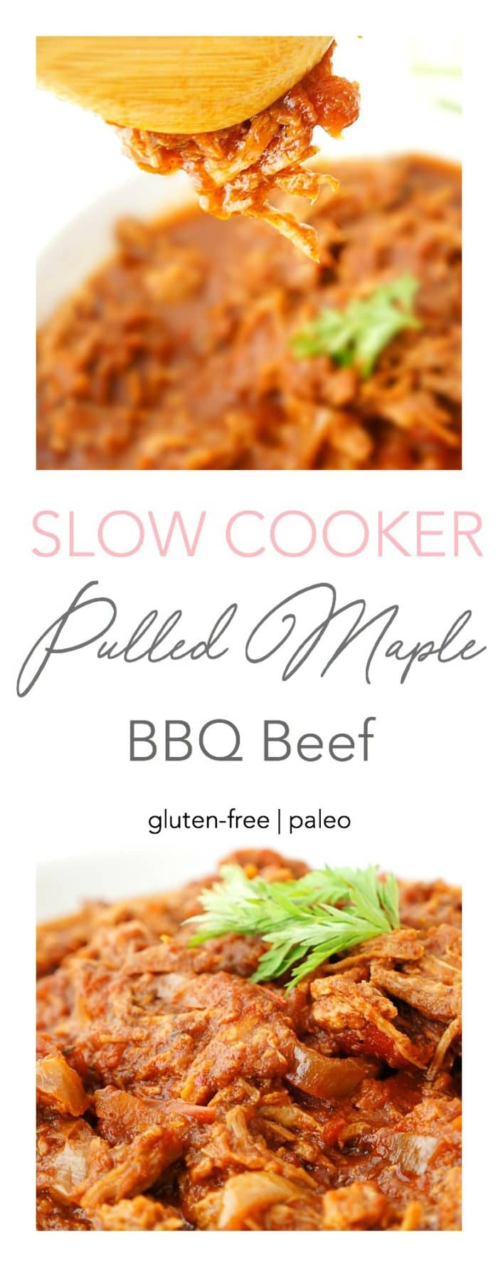 Crockpot Pulled Maple BBQ Beef