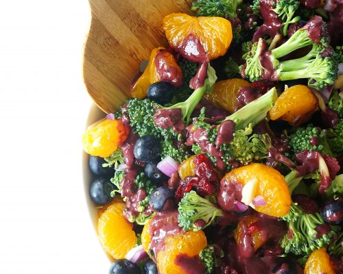 Blueberry Mandarin Broccoli Salad