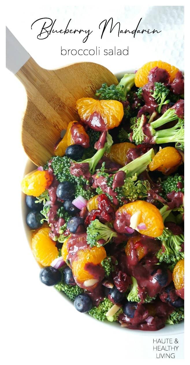 Blueberry Mandarin Broccoli Salad