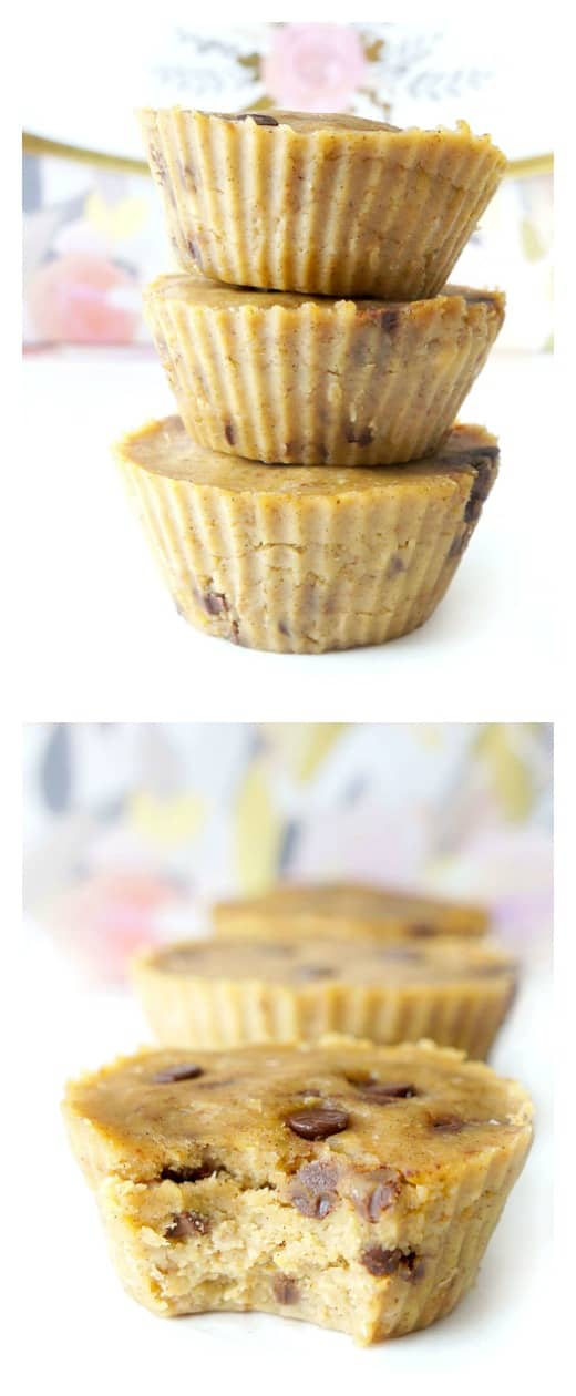 No-Bake Healthy Cookie Dough Cups