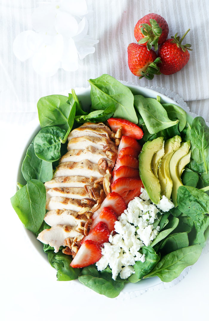 Grilled Chicken Strawberry Avocado Salad