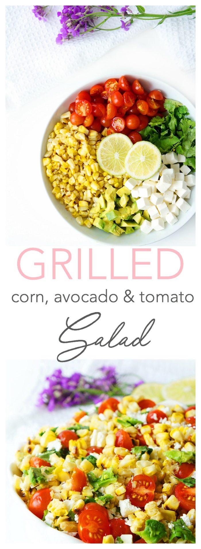 Salade de maïs, tomate et avocat grillée avec une vinaigrette au miel et au citron vert &quot;width =&quot; 700 &quot;height =&quot; 1905 &quot;/&gt; <span/></p></div></pre><p><a href=