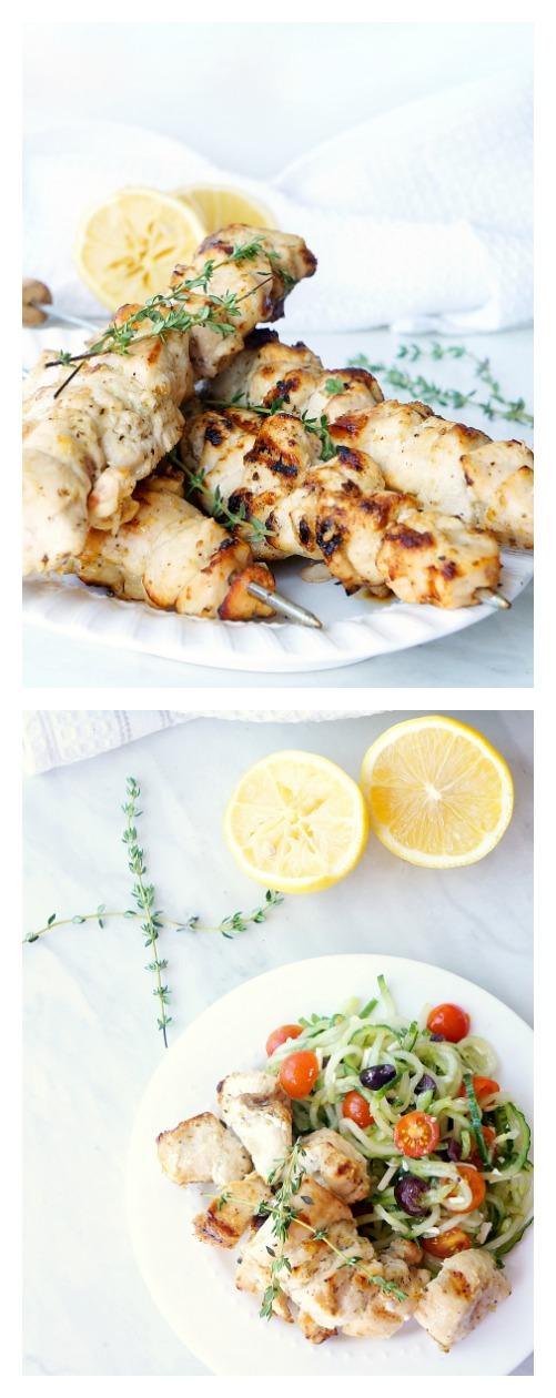 Grilled Lemon Garlic Chicken