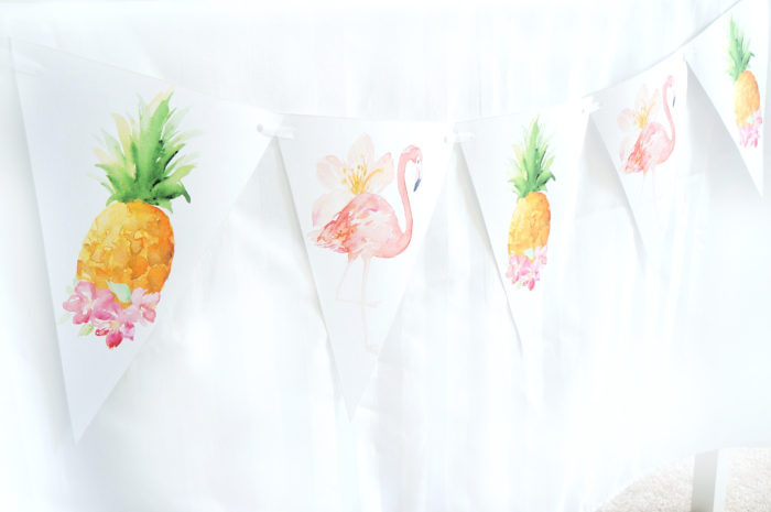Free Printable Tropical Summer Party Banner