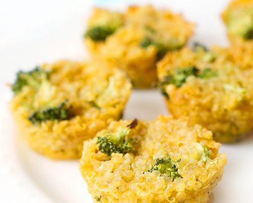 Broccoli Cheddar Quinoa Cups