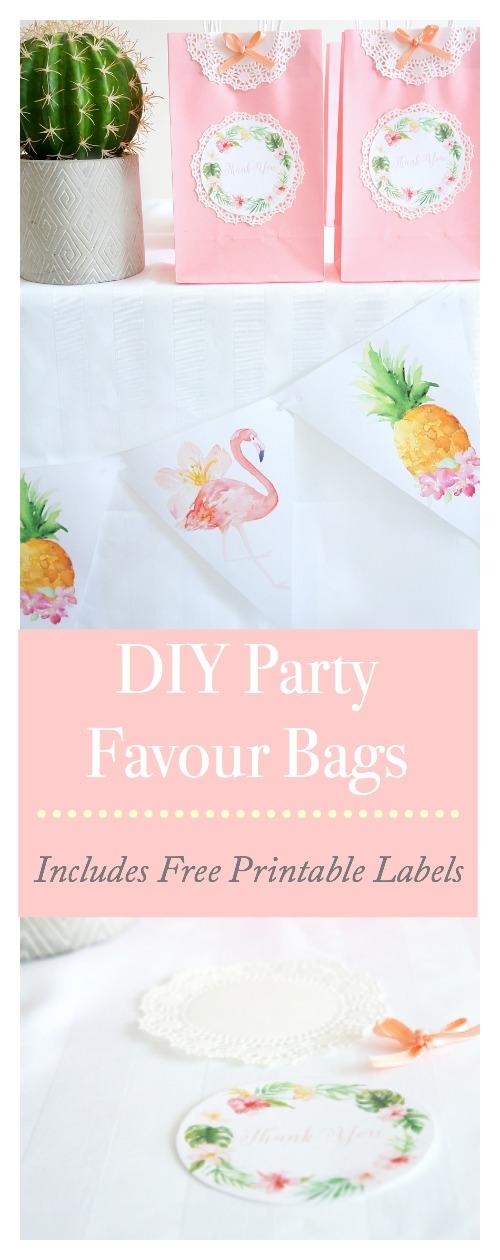 DIY Tropical Favour Bags