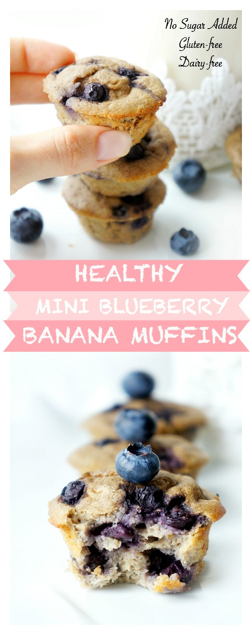 Mini Blueberry Banana Muffins