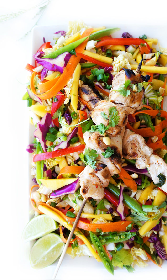 rainbow detox salad  haute  healthy living