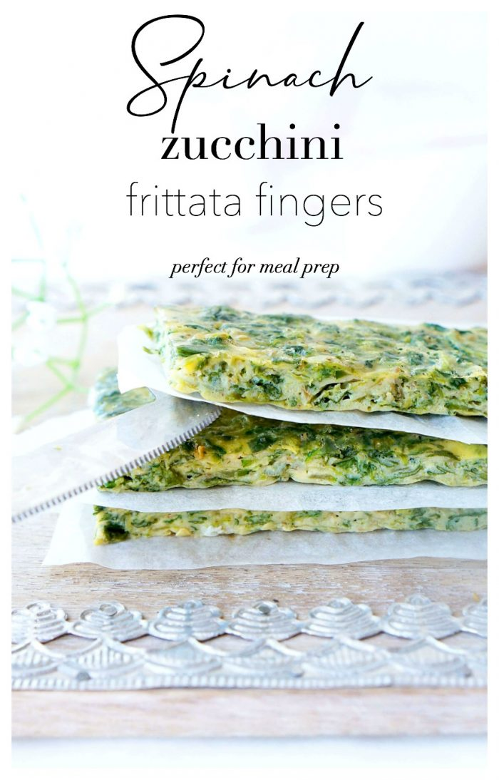 Spinach Zucchini Frittata Fingers
