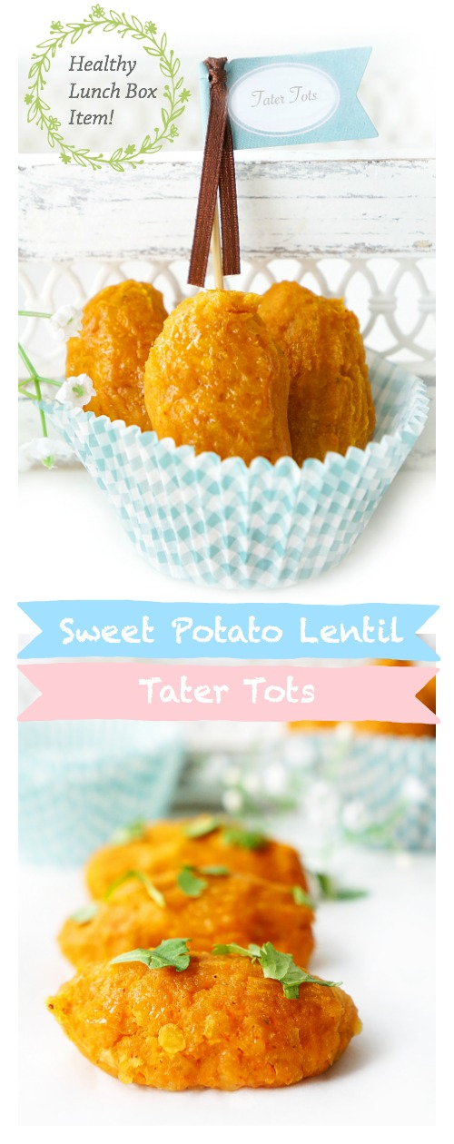 Sweet Potato Lentil Tater Tots