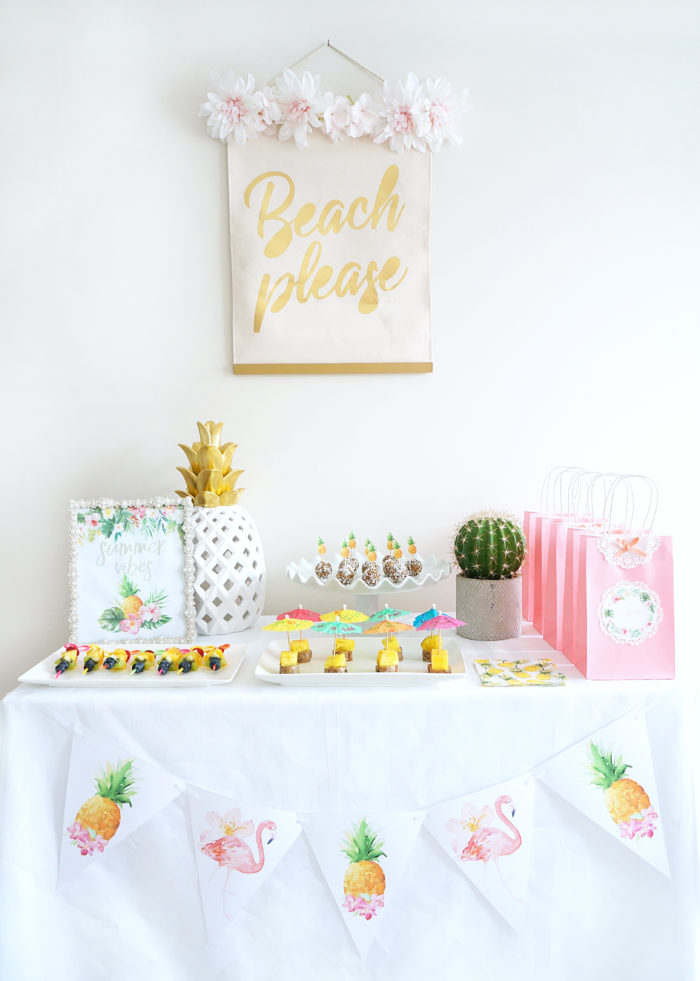 haute healthy living tropical themed party ideas free printables