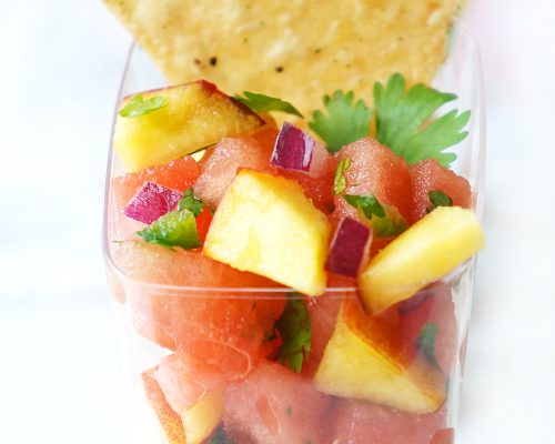 Watermelon Peach Salsa