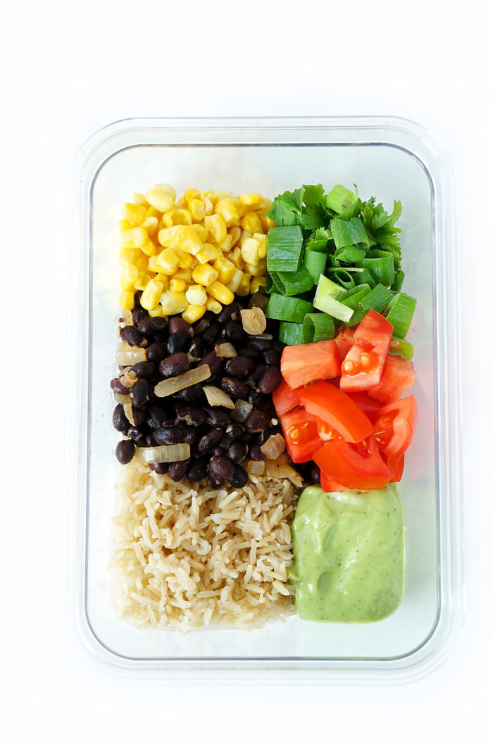 Black Bean & Brown Rice Meal Prep Bowls
