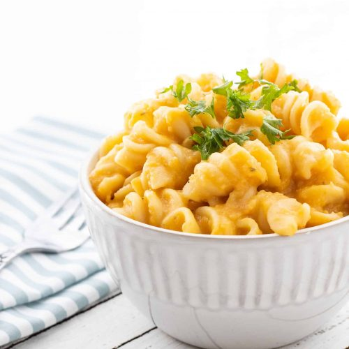 Crockpot Butternut Squash Mac & Cheese