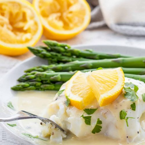 Fish With Easy Lemon Garlic Sauce