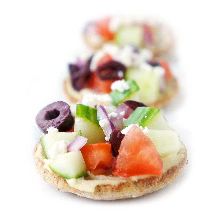 Mini Greek Pita Pizzas