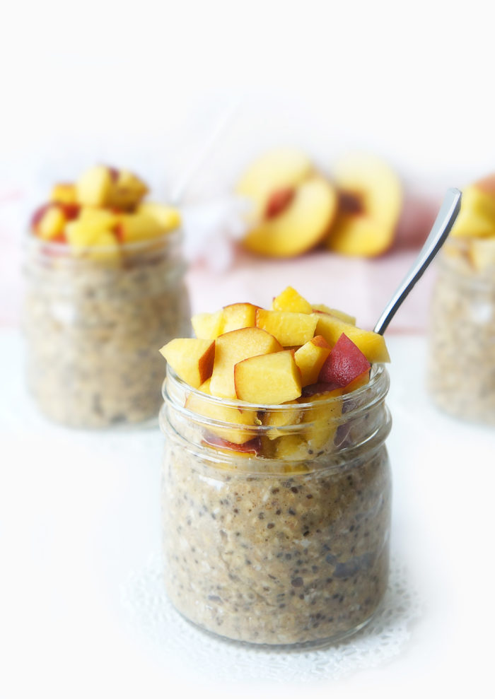 Peach Pie Overnight Oats