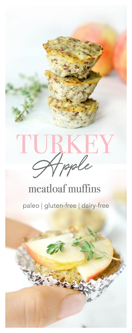 Turkey Apple Meatloaf Muffins