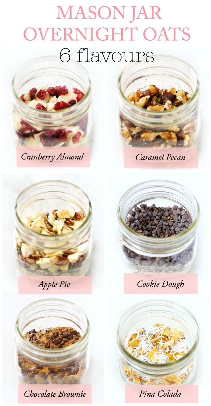 DIY Mason Jar Overnight Oats