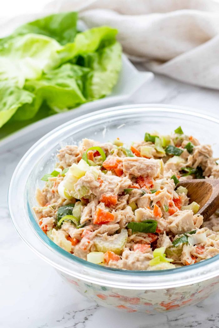 no-mayo tuna salad in bowl