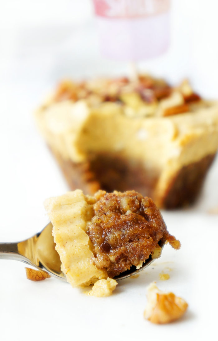 No-Bake Vegan Pumpkin Spice Cheesecake Cups