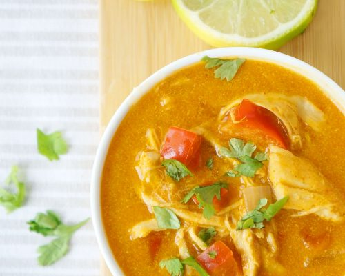 Curried Pumpkin Chicken Soup