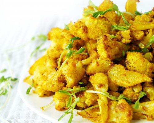 Roasted Turmeric Cauliflower