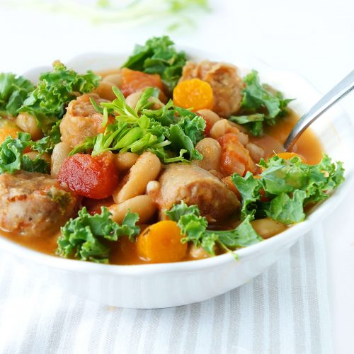 Sausage, Kale & White Bean Soup