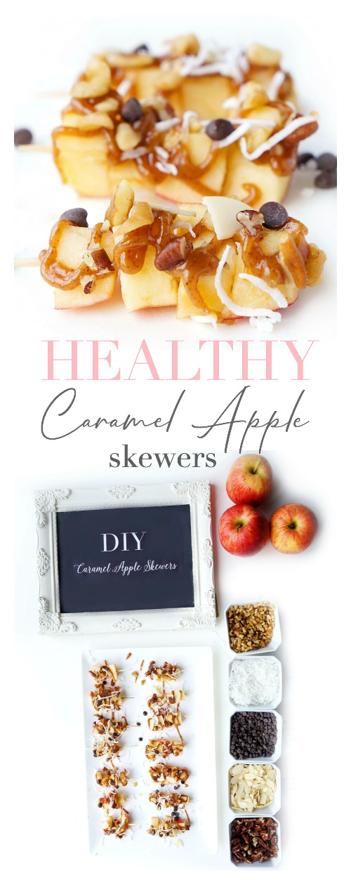 """Caramel"" Apple Skewers"