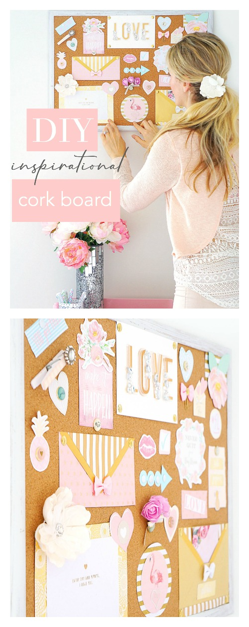 DIY Inspirational Cork Board