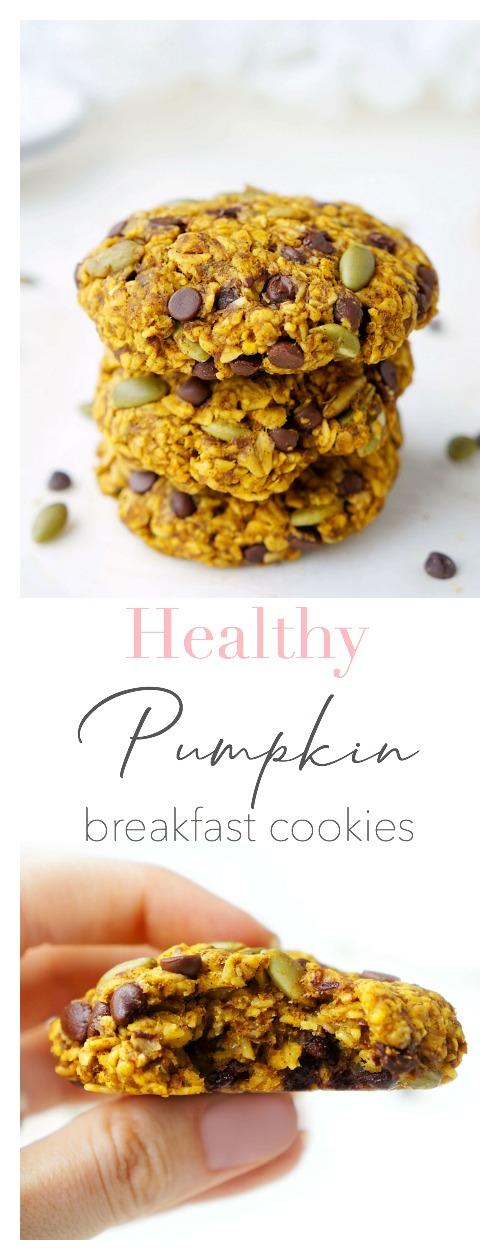 Pumpkin Chocolate Chip Breakfast Cookies