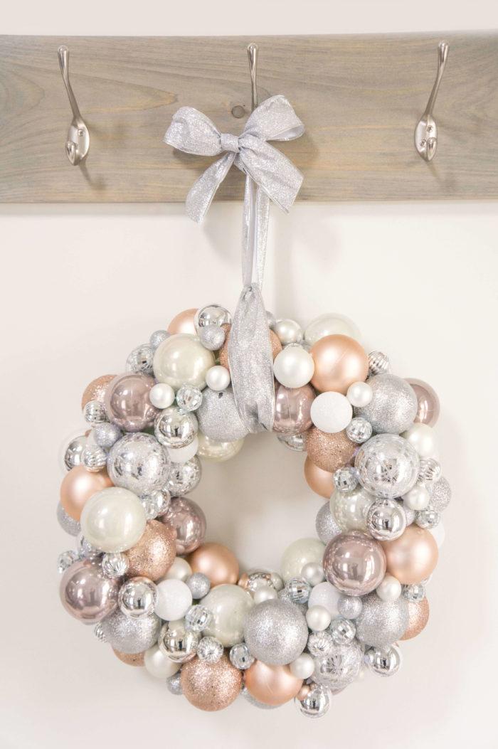 Diy Ornament Wreath Haute Healthy Living