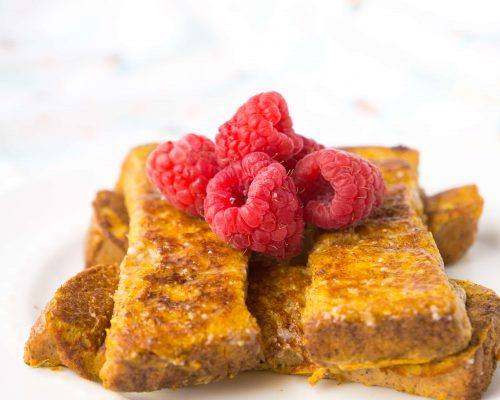 Pumpkin Banana French Toast Sticks