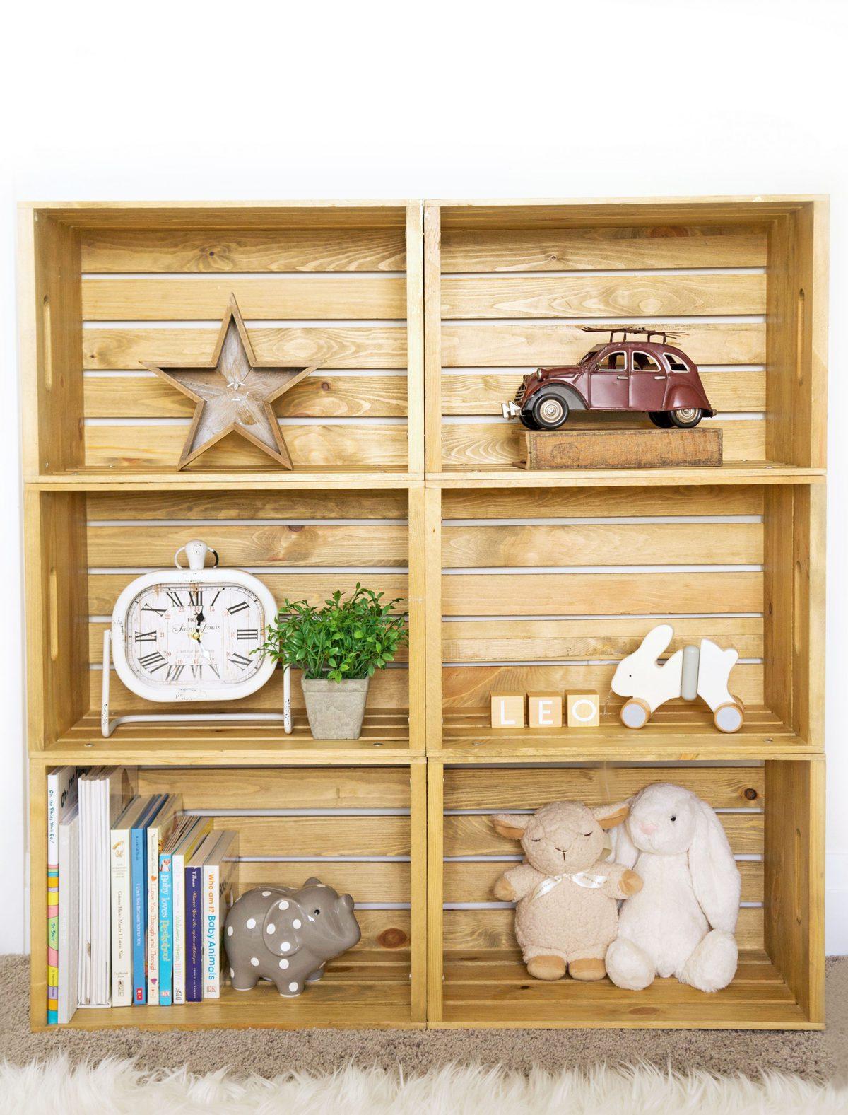 Diy Wooden Crate Shelf Haute