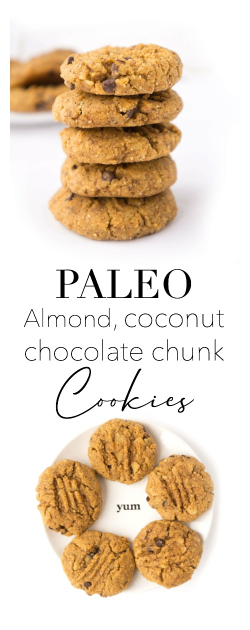 Almond, Coconut & Chocolate Cookies