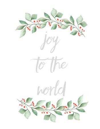 thumbnail of Printable joy to the world