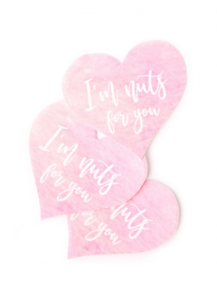 I'm nuts for you Valentine's Day labels