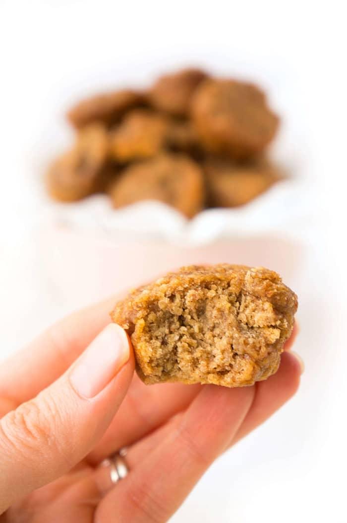 Mini Almond Butter Muffin Bites