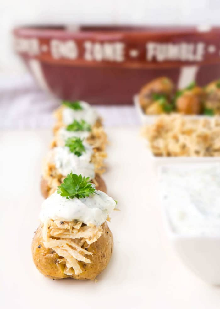 Stuffed Chicken Gyros Touchdown Taters